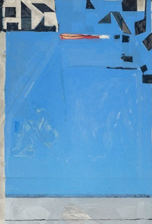 Blue With Red 1987 Limited Edition Print - Richard Diebenkorn