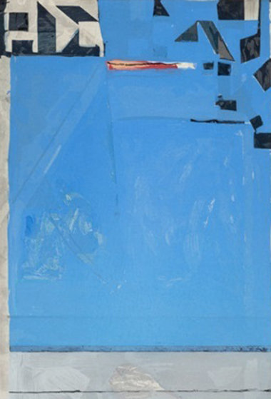 Blue With Red 1987 Limited Edition Print by Richard Diebenkorn