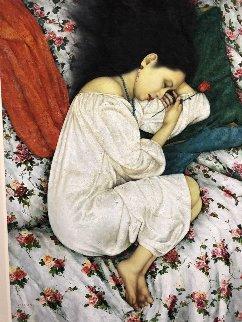 Rose Dream 63x49 Original Painting by Di Li Feng