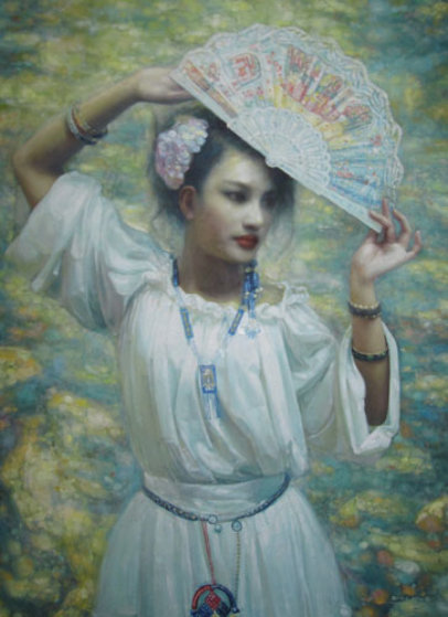 Untitled Painting 62x49 Original Painting by Di Li Feng