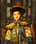Empress 2002 42x35 Original Painting - Di Li Feng
