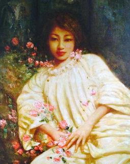 Untitled Portrait  50x42 Super Huge Original Painting - Di Li Feng