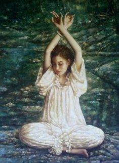 Untitled Woman 62x49 Original Painting by Di Li Feng