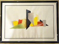 Drawing #9, From Muster and Throng Watercolor 1978 25x38 Huge Watercolor by Guy Dill - 2