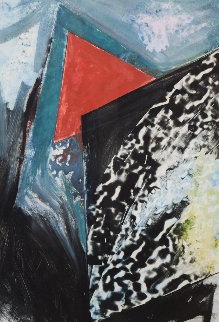 Untitled Monotype 1985 36x28 Works on Paper (not prints) - Laddie John Dill