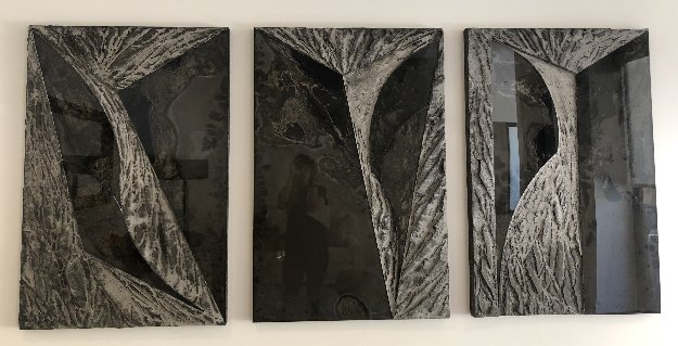 Untitled Set of 3 Cement Sculptures 48x96 by Laddie John Dill
