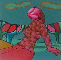 Her Blooming Flowers 2007 43x37 Super Huge Original Painting by Dimitri Strizhov - 0