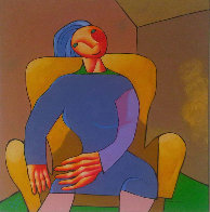Portrait of Precise Woman 2006 43x37 Super Huge Original Painting by Dimitri Strizhov - 3