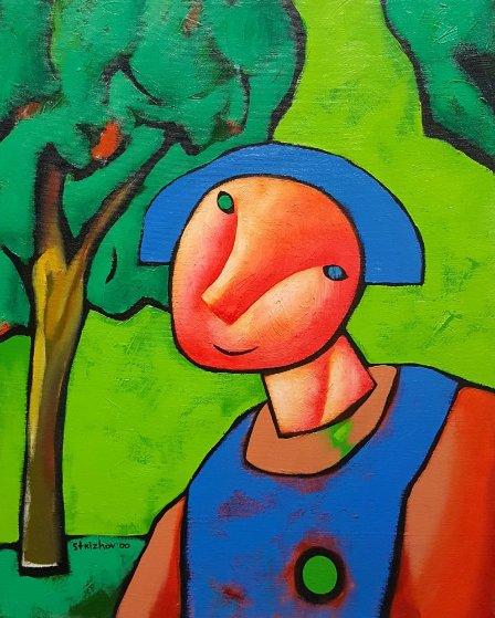 Untitled Painting 2000 20x16 Original Painting by Dimitri Strizhov