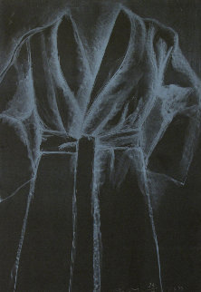 White Robe on Black 1977 Limited Edition Print by Jim Dine