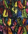 Dexter's Four Robes Unique  Original Painting - Jim Dine