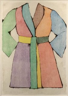 Woodcut Bathrobe AP 1975 Limited Edition Print - Jim Dine
