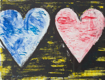 Two Hearts At Sunset 2005 Limited Edition Print by Jim Dine