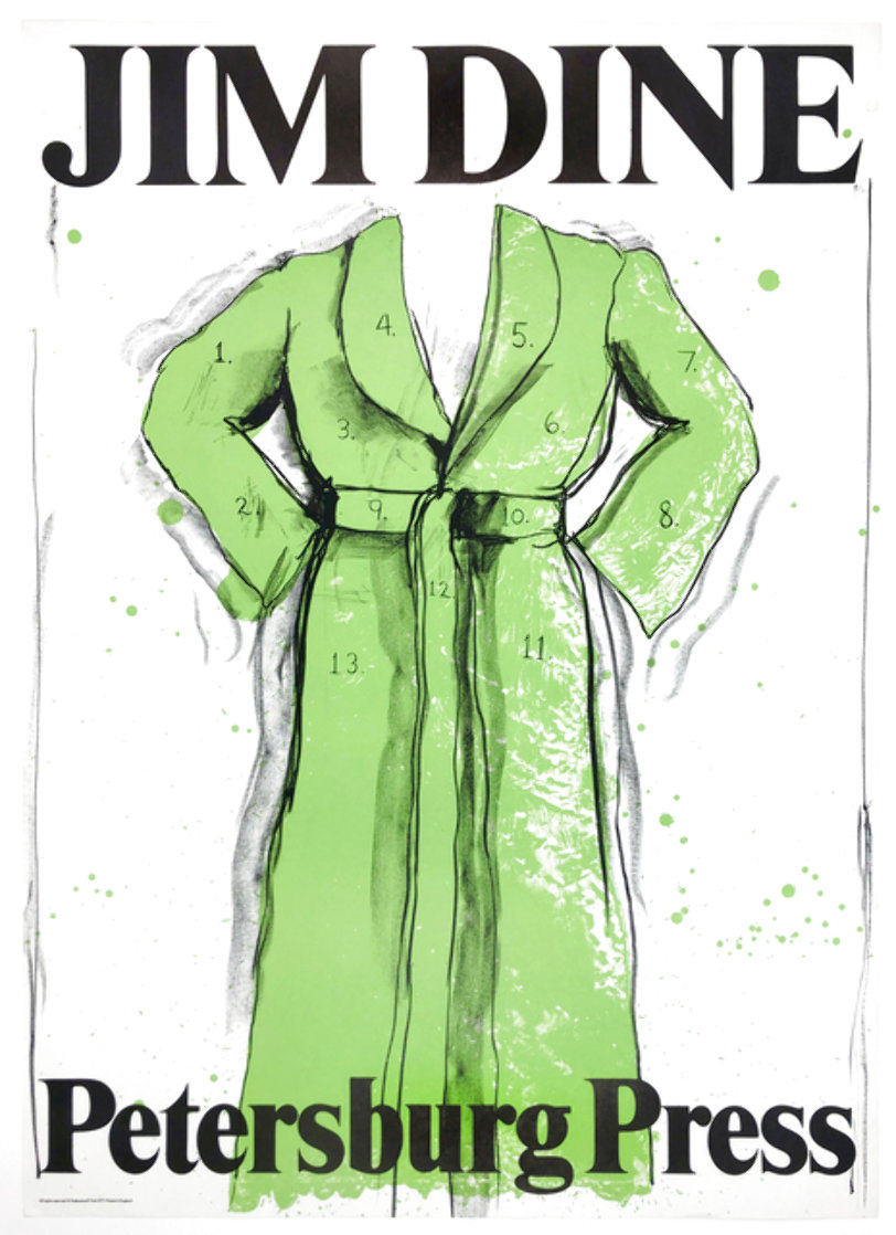 Green Robe Exhibition Poster, Petersburg Press 1971 HS Limited Edition Print by Jim Dine