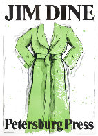 Green Robe Exhibition Poster, Petersburg Press 1971 HS Limited Edition Print by Jim Dine - 0