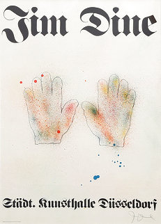 Hands 1971 HS (Early) Limited Edition Print - Jim Dine