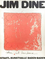 Red Banana Exhibition Poster 1971 HS Limited Edition Print by Jim Dine - 0