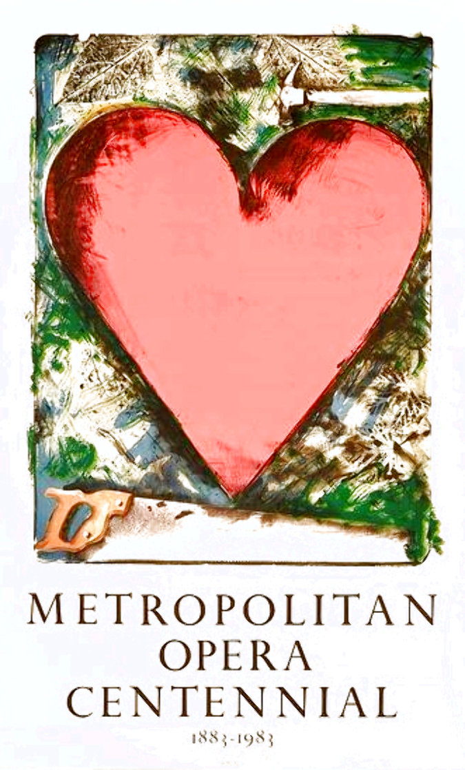 Heart At the Opera Poster HS 1983 HS Limited Edition Print by Jim Dine