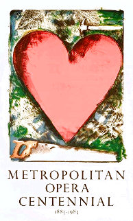Heart At the Opera Poster HS 1983 HS Limited Edition Print - Jim Dine