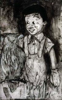 Boy And Owl 2000 Limited Edition Print - Jim Dine