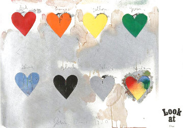 8 Hearts / Look 1970 HS  Limited Edition Print - Jim Dine