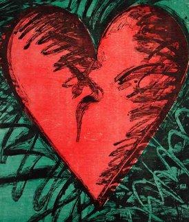 Rancho Woodcut Heart 1982 Limited Edition Print - Jim Dine