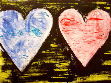Two Hearts At Sunset 2005 Limited Edition Print - Jim Dine