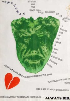 Wolfman (Wall) 1967 HS Limited Edition Print - Jim Dine