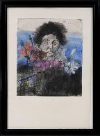 Nancy Outside in July #6, Flowers of the Holy Land 1979 Limited Edition Print by Jim Dine - 2