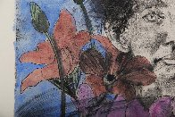 Nancy Outside in July #6, Flowers of the Holy Land 1979 Limited Edition Print by Jim Dine - 3