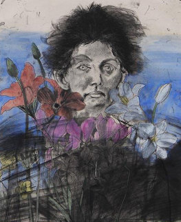 Nancy Outside in July #6, Flowers of the Holy Land 1979 Limited Edition Print by Jim Dine