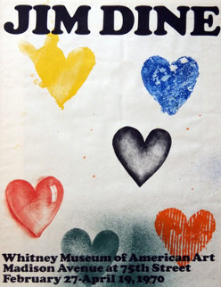 Whitney Museum American Art 1970 (Poster) Other - Jim Dine