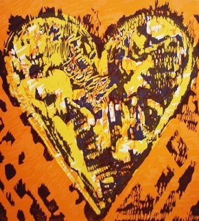 Heart For Film Forum (2 graphics in same frame) 1993 27x39 Limited Edition Print by Jim Dine