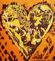 Heart For Film Forum (2 graphics in same frame) 1993 27x39 Limited Edition Print by Jim Dine - 1