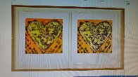 Heart For Film Forum (2 graphics in same frame) 1993 27x39 Limited Edition Print by Jim Dine - 2