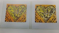 Heart For Film Forum (2 graphics in same frame) 1993 27x39 Limited Edition Print by Jim Dine - 3