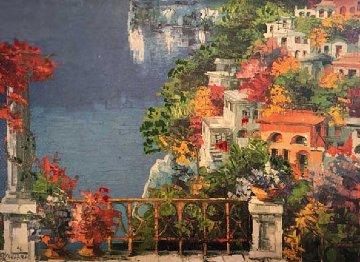 Untitled Painting 1996 31x23 Original Painting - Antonio Di Viccaro