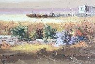 Untitled Landscape 1971 31x38 Original Painting by Antonio Di Viccaro - 0