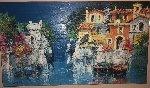 Riflessi Primaverili 1971 41x65 Original Painting - Antonio Di Viccaro