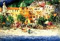 Positano 1971 42x57 Original Painting - Antonio Di Viccaro