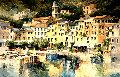 Portofino II 79x52 Original Painting - Antonio Di Viccaro