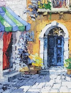 Ombre E Colore 1971 26x22 Original Painting - Antonio Di Viccaro