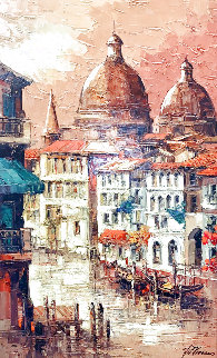 Veneziana Cathedral 2009 55x36 Super Huge  Original Painting - Antonio Di Viccaro