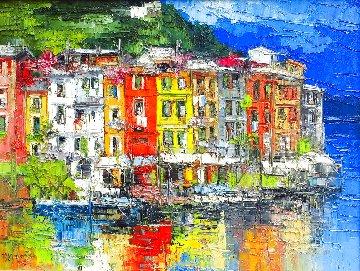 Portofino 2005 33x41 Huge Original Painting - Antonio Di Viccaro