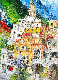 Amalfi  2005 51x39 Huge Original Painting - Antonio Di Viccaro