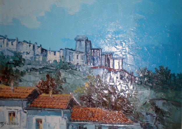 Veduto / The View 23x32 Original Painting by Antonio Di Viccaro