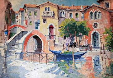 Italian Landscape 2012 35x46 Original Painting - Antonio Di Viccaro