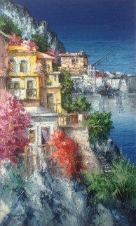 Vita Sul Mare 2007 39x23 Original Painting - Antonio Di Viccaro