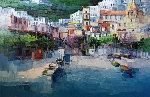 Positano 1992 52x71 Original Painting - Antonio Di Viccaro