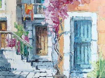 Portoncini 1971 21x25 Original Painting - Antonio Di Viccaro